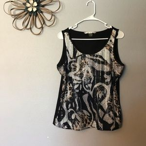 Peter Nygard sequin detail top size large